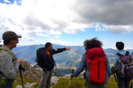 Escursionisti e Guida